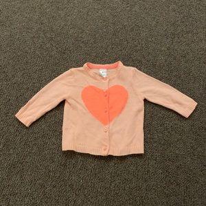 Carter's Heart Cardigan (6M)